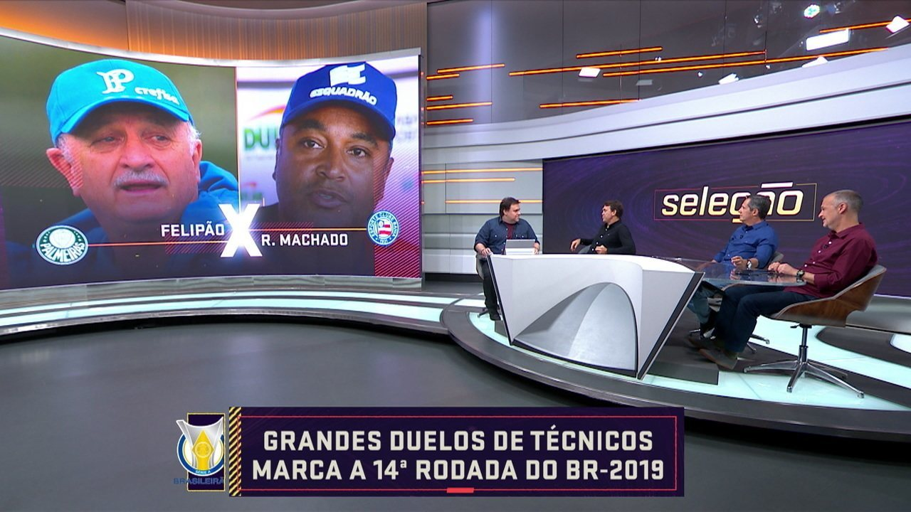 Grandes duelos de técnicos marca a 14ª rodada do Brasileirão