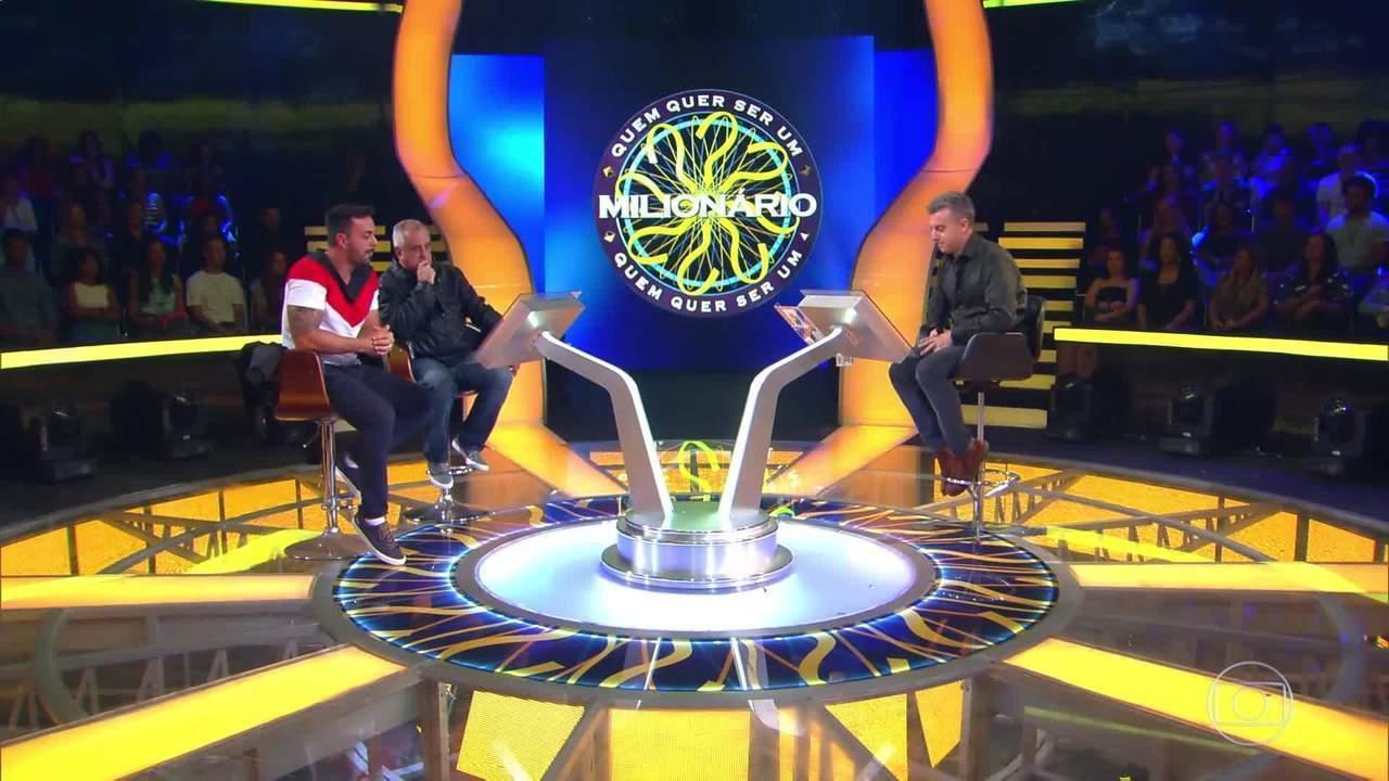 Carlos e Beto continuam na disputa pelo prêmio do 'Quem Quer Ser Um Milionário'