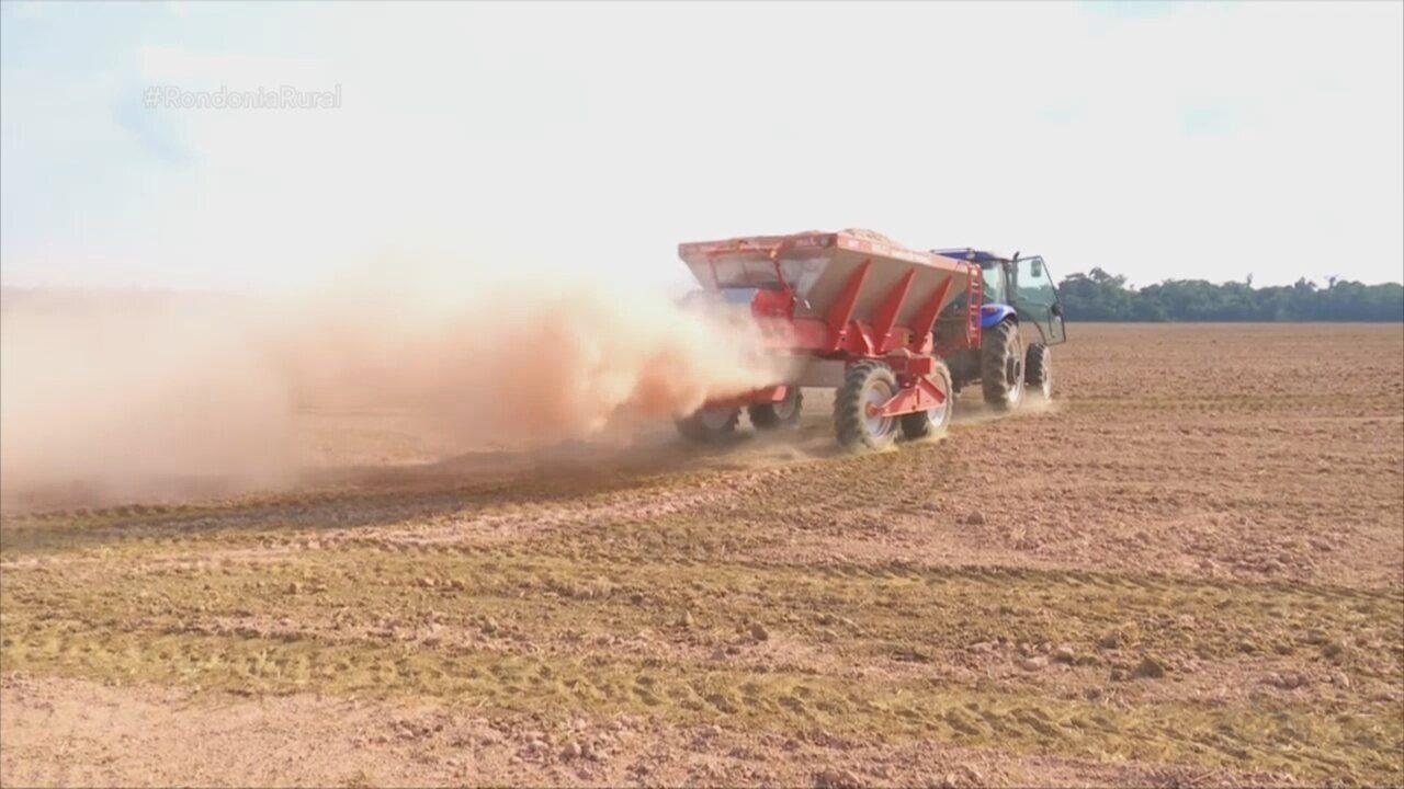 Solo começa a ser preparado para o próximo plantio da soja, em RO