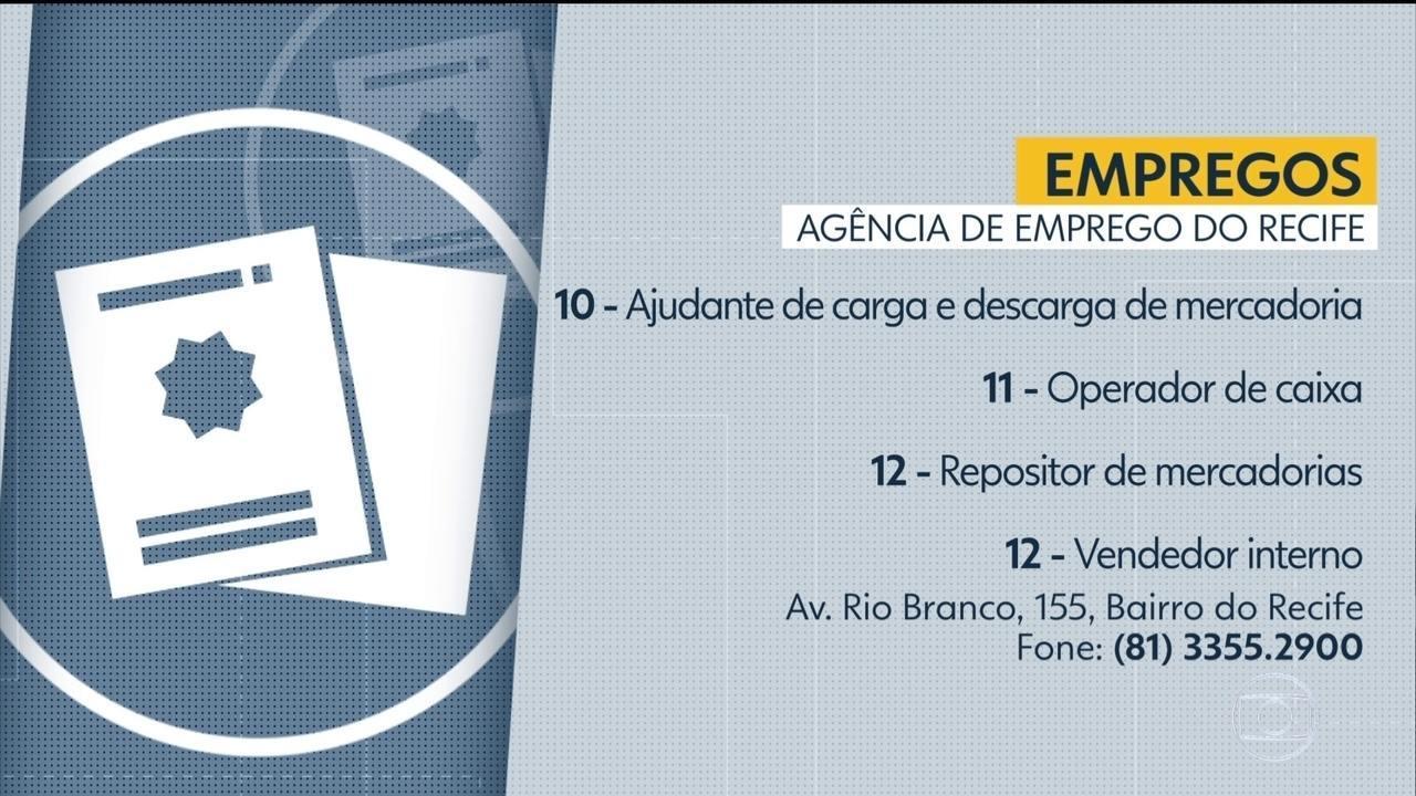 Confira vagas disponíveis na Agência de Emprego do Recife