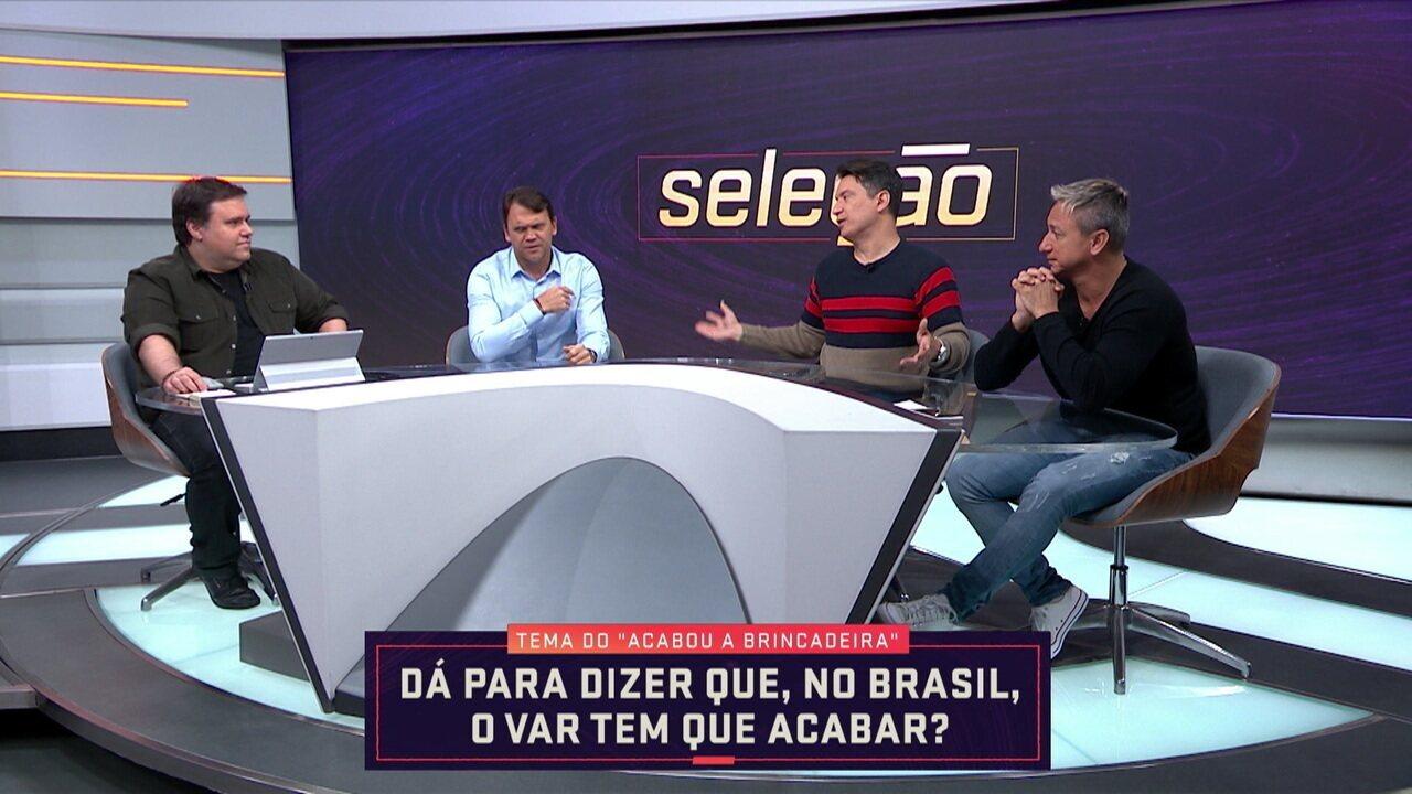 Comentaristas discutem uso do árbitro de vídeo no Campeonato Brasileiro