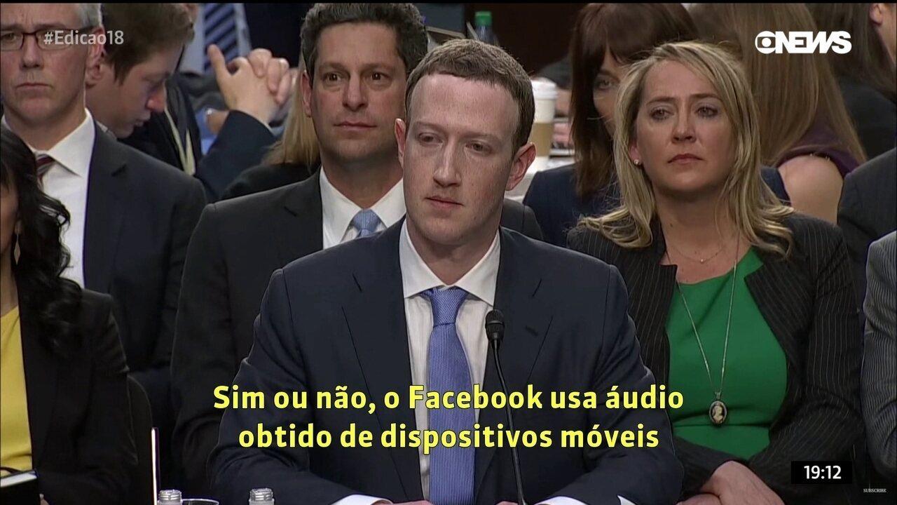 Ao Congresso dos EUA em 2018, Zuckerberg negou que Facebook acessasse áudio de usuários de maneira não solicitada para direcionar publicidade