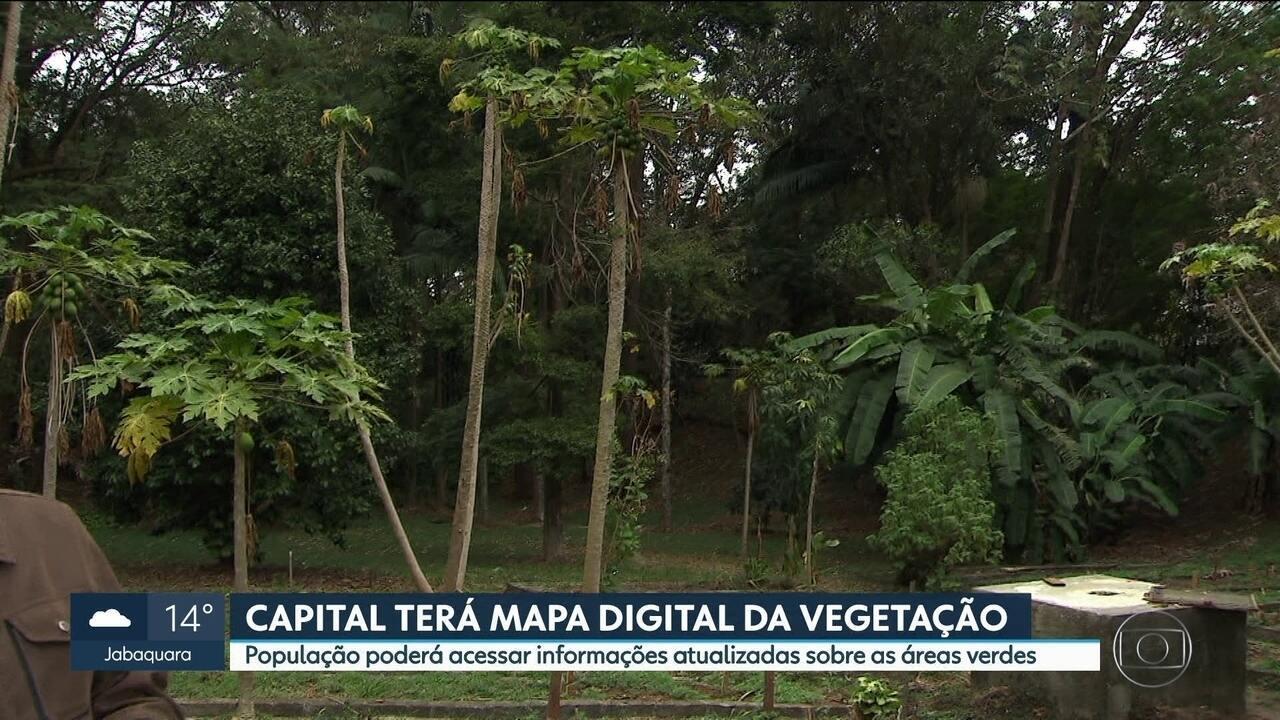 Capital terá mapa digital das áreas verdes, feito com tecnologia de última geração