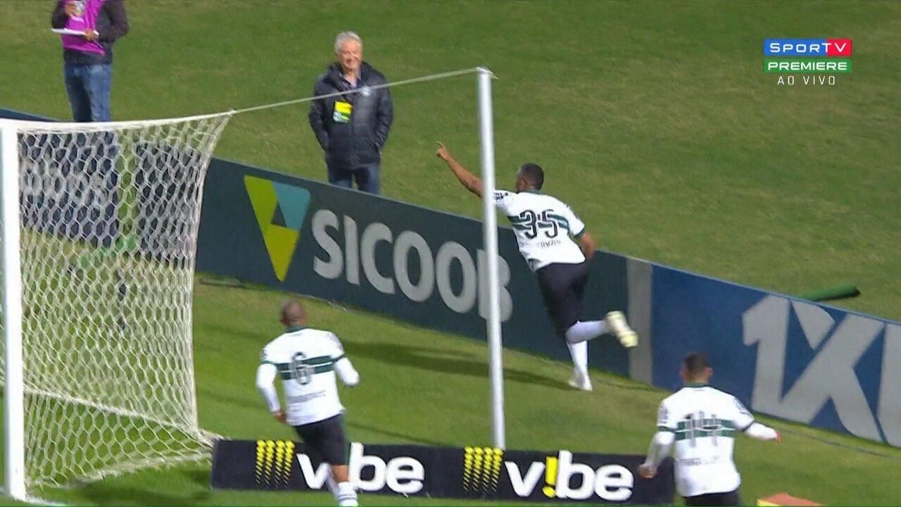 Os gols de Coritiba 2 x 0 Brasil-RS, pela 16º rodada da Série B do Campeonato Brasileiro