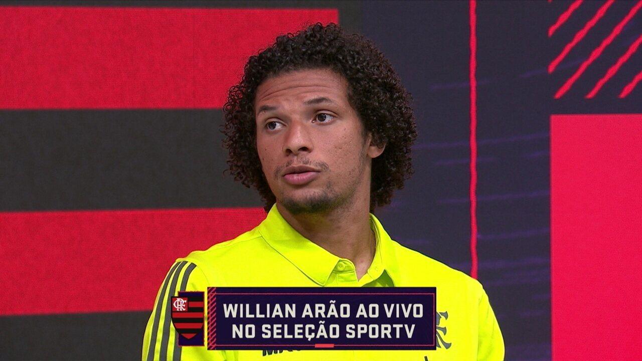Willian Arão participa ao vivo do Seleção SporTV