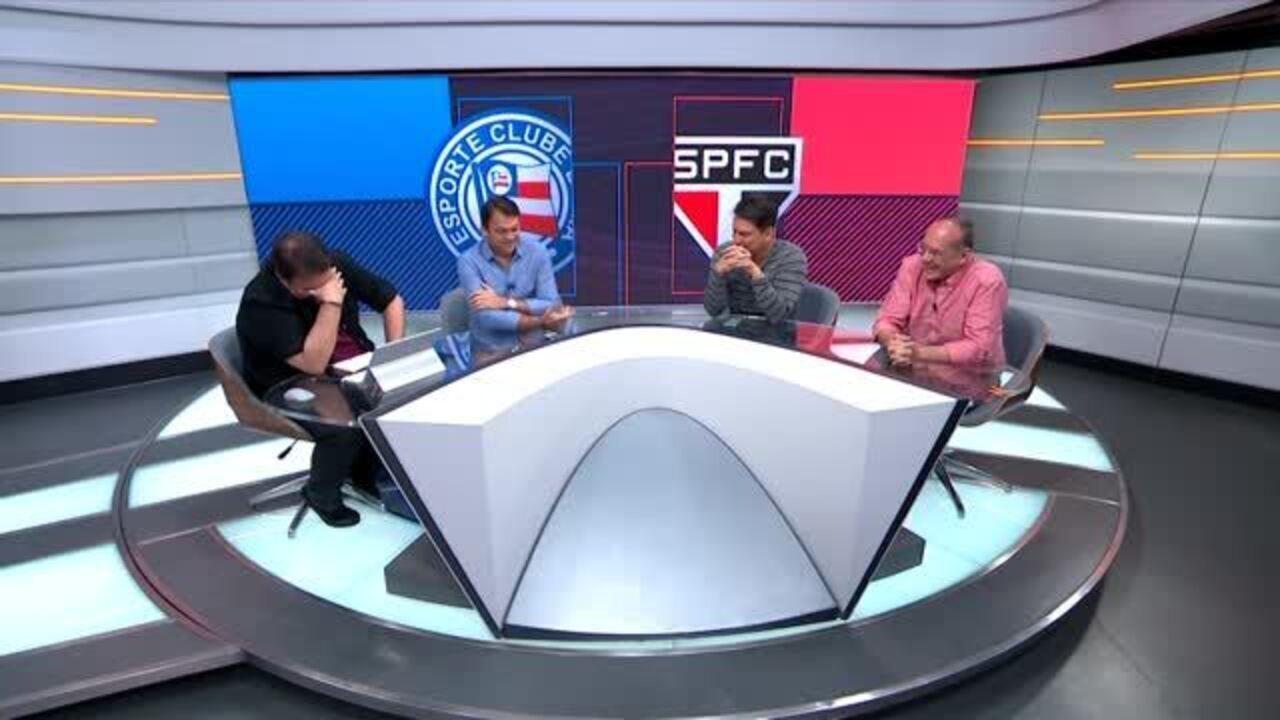 Rodrigo Rodrigues brinca com Petkovic no Seleção SporTV