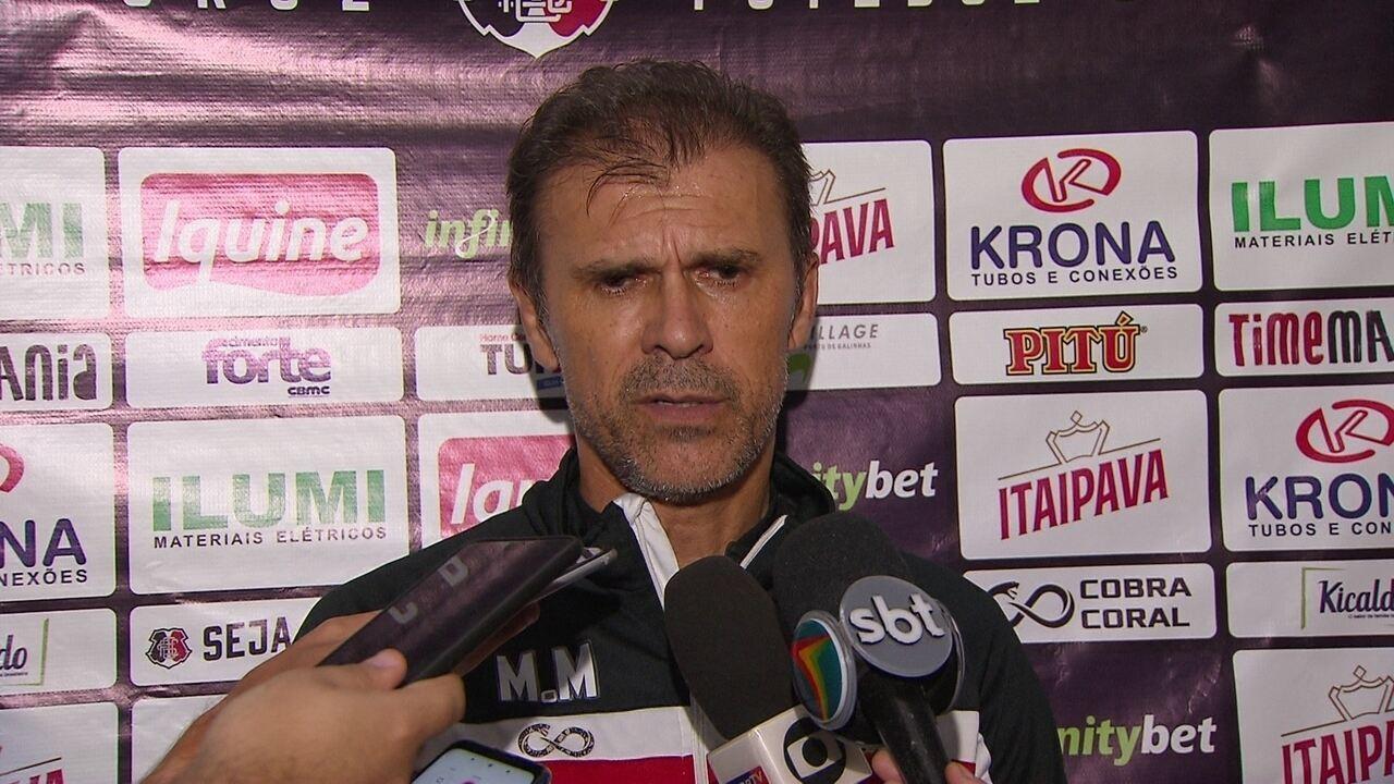 Confira a coletiva de Milton Mendes antes do jogo contra o Globo-RN