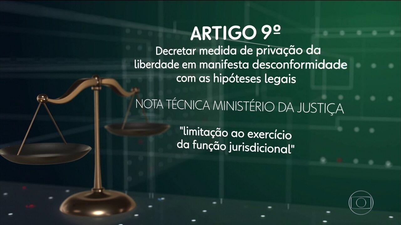Técnicos da Justiça criticam 11 pontos do texto da lei de abuso de autoridade