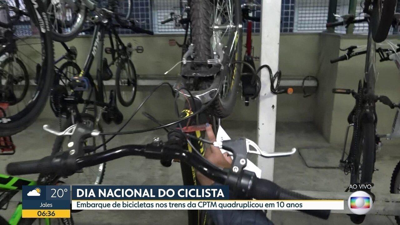 Embarque de bicicletas nos trens da CPTM quadruplicou nos últimos dez anos