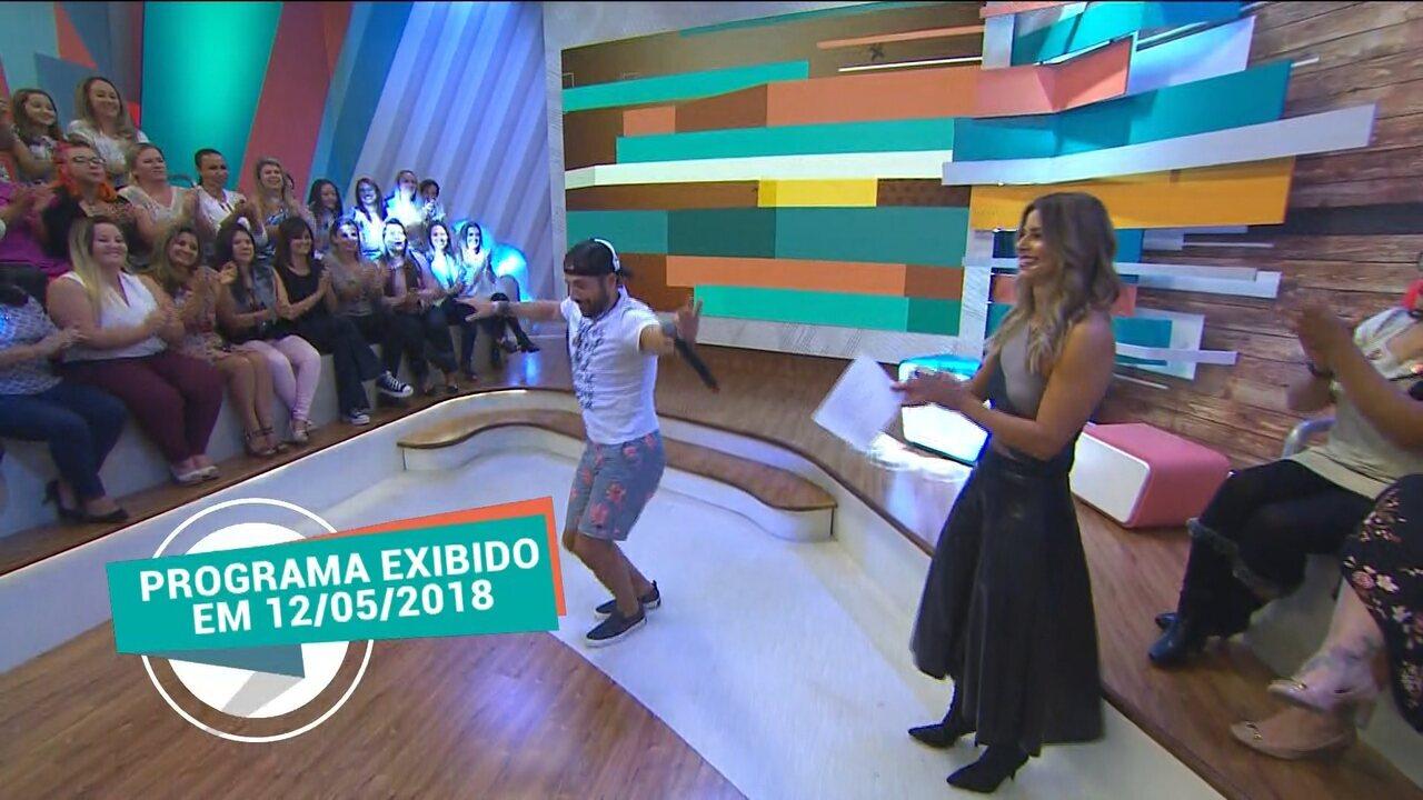 Kaysar Dadour dança música árabe no 'Estúdio C'
