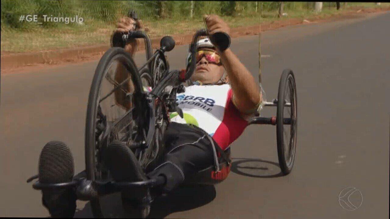 Uberlandense Eduardo Pimenta integra Time Brasil de ciclismo no Parapan