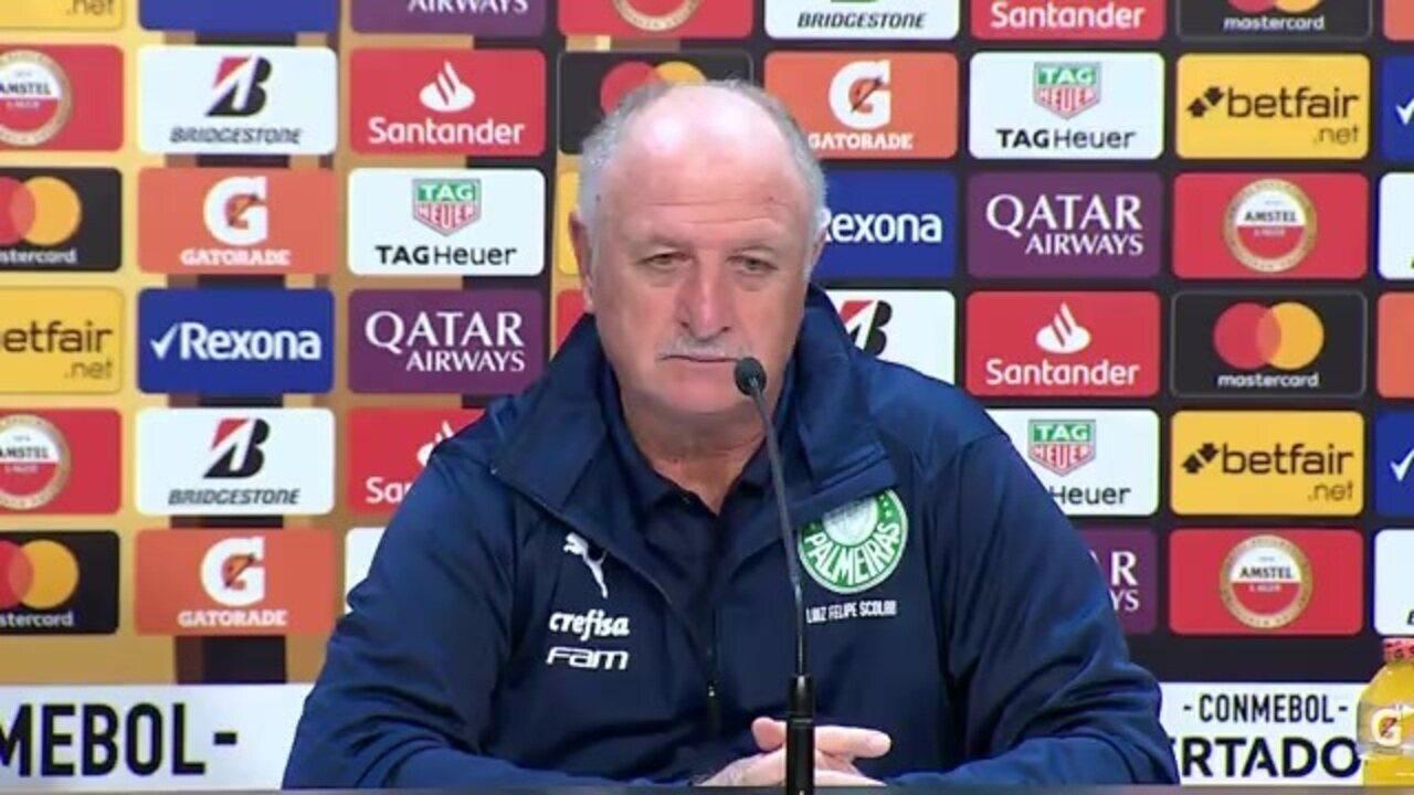 Veja um trecho da entrevista de Felipão, do Palmeiras, após vitória sobre o Grêmio