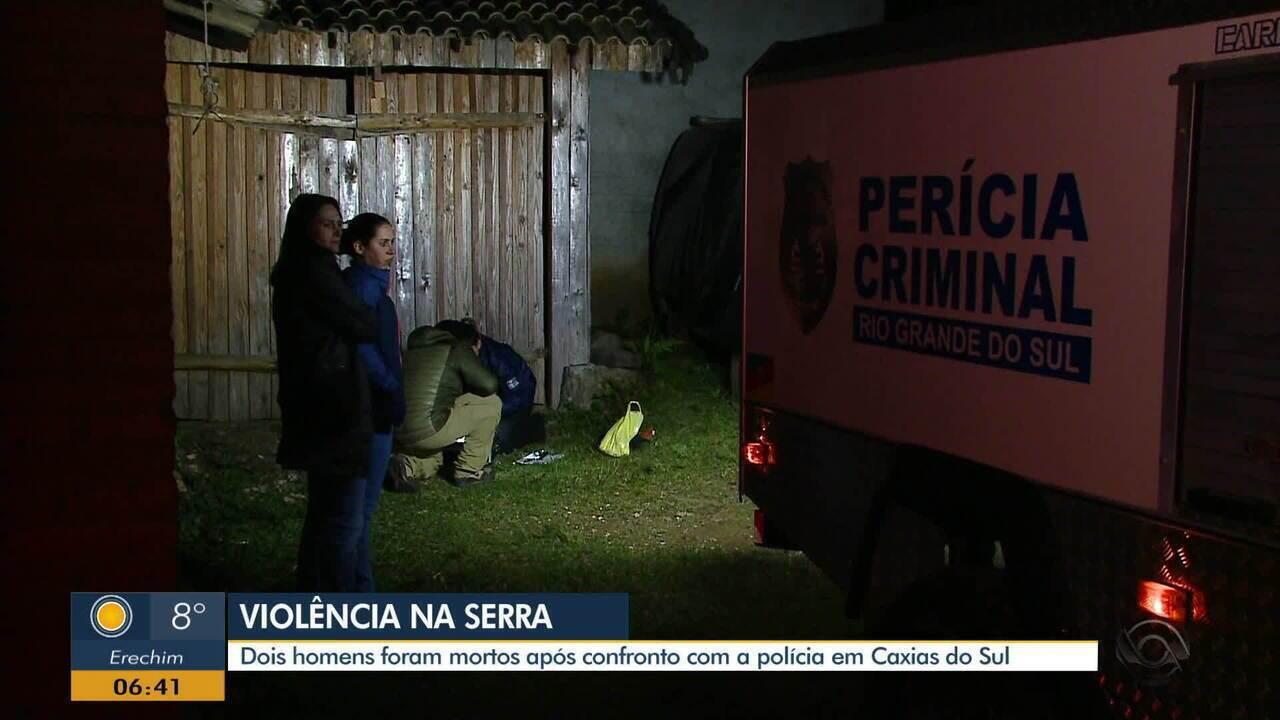 Dois homens são mortos durante confronto com a polícia em Caxias do Sul