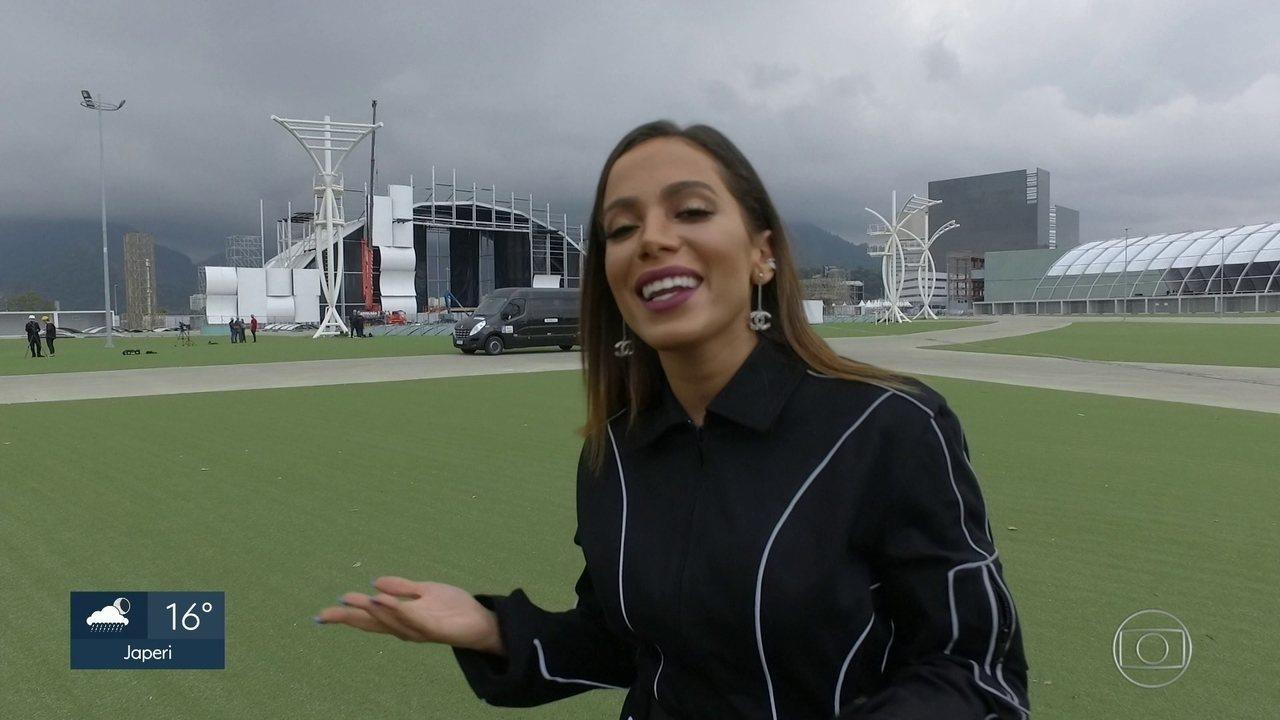 Anitta vai visitar a Cidade do Rock antes de estrear no Rock in Rio no Brasil