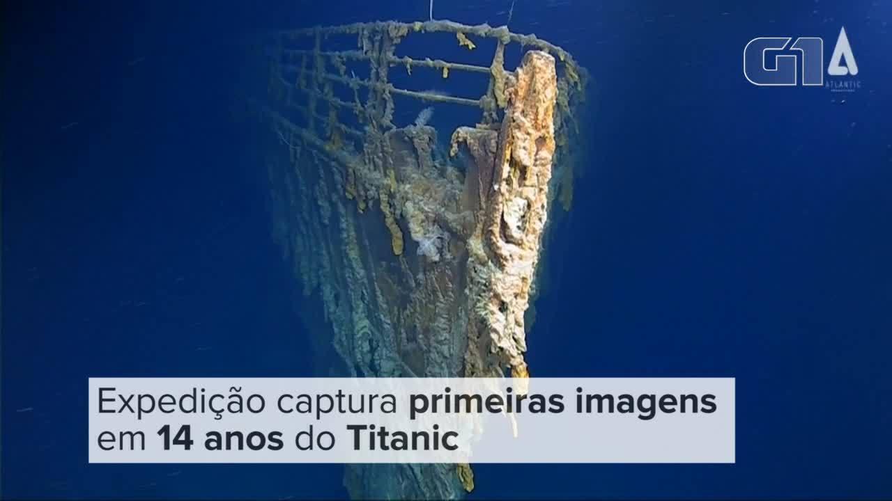 Exploradores submarinos revelam novas imagens dos restos do Titanic