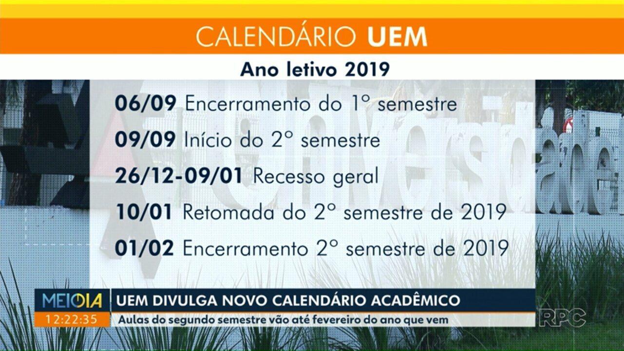 Calendario Uem.Uem Divulga Novo Calendario Academico