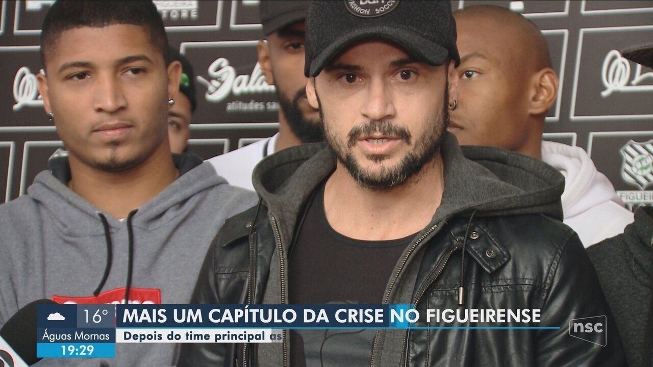 Em pronunciamento, elenco do Figueirense expõe situação financeira e mantém greve