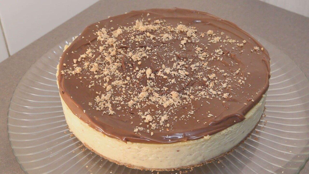 Culinaria #013: Aprenda a fazer uma cheesecake de paçoca