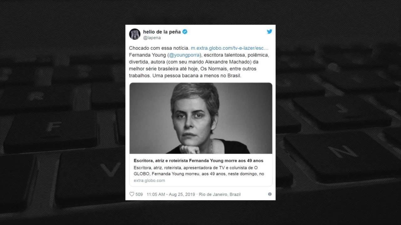 Famosos lamentam morte de Fernanda Young
