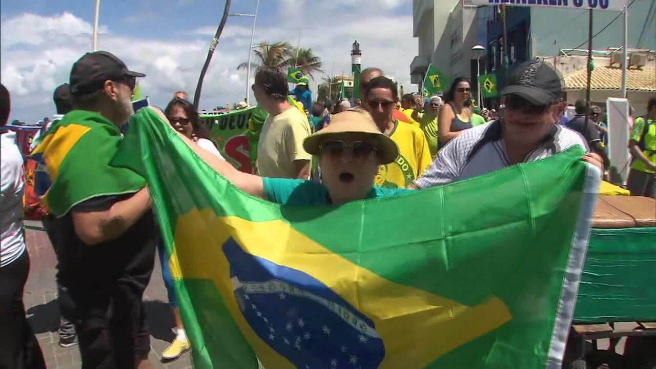 Manifestações em apoio à Lava-Jato e a Moro acontecem em cinco cidades do país