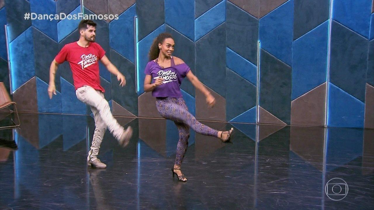 Veja os ensaios de Dandara Mariana para o 'Dança dos Famosos'