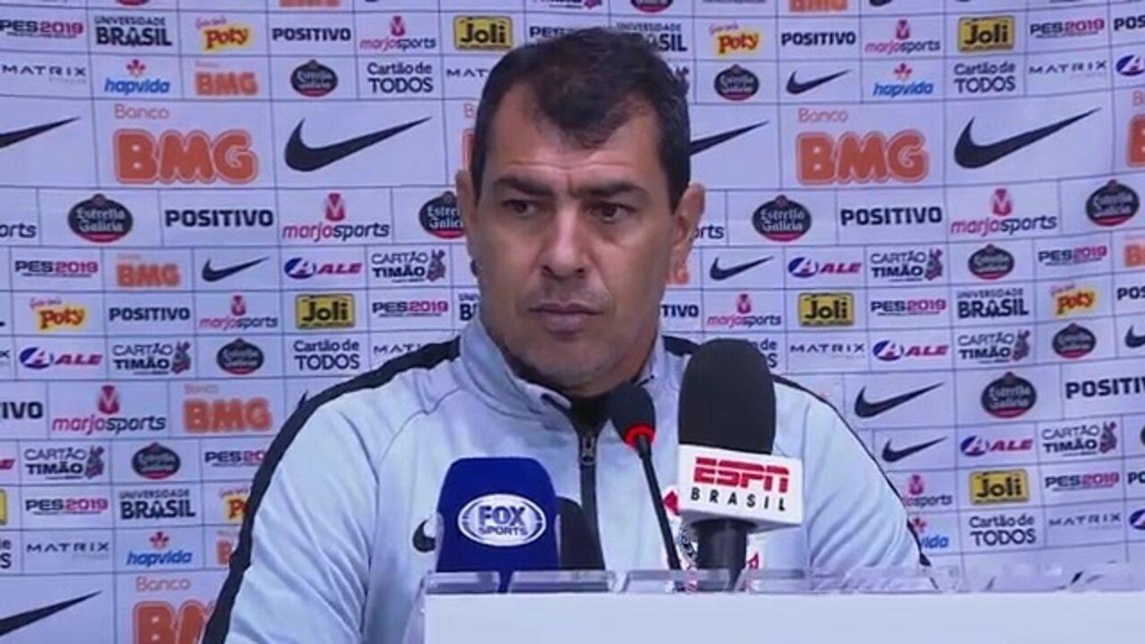 Veja a entrevista coletiva de Fábio Carille, do Corinthians, após empate com o Avaí