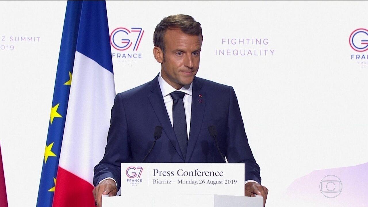 Macron relembra desentendimentos que teve com Bolsonaro