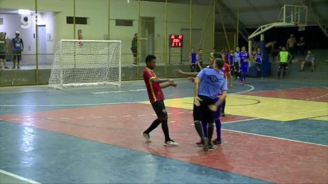 Árbitro é agredido por atleta do Cajuína na semifinal da Taça Clube de futsal