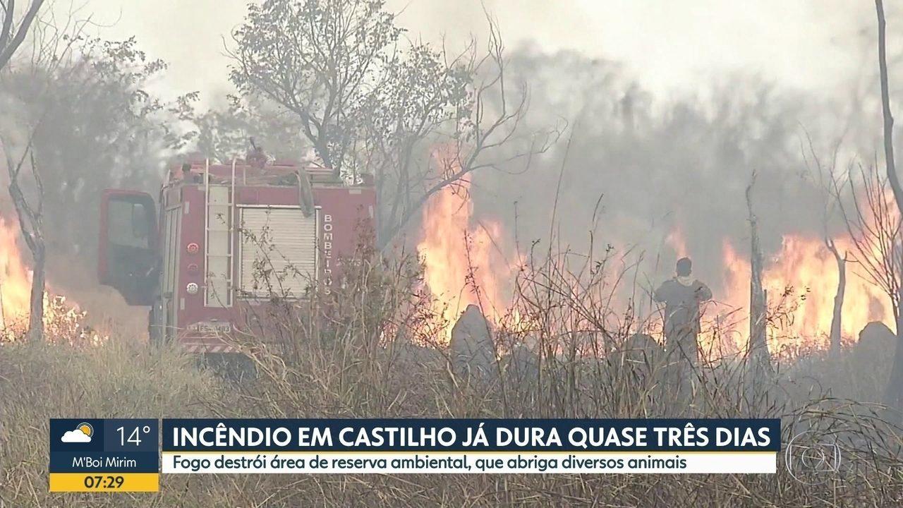 Incêndio em Castilho já dura quase 3 dias