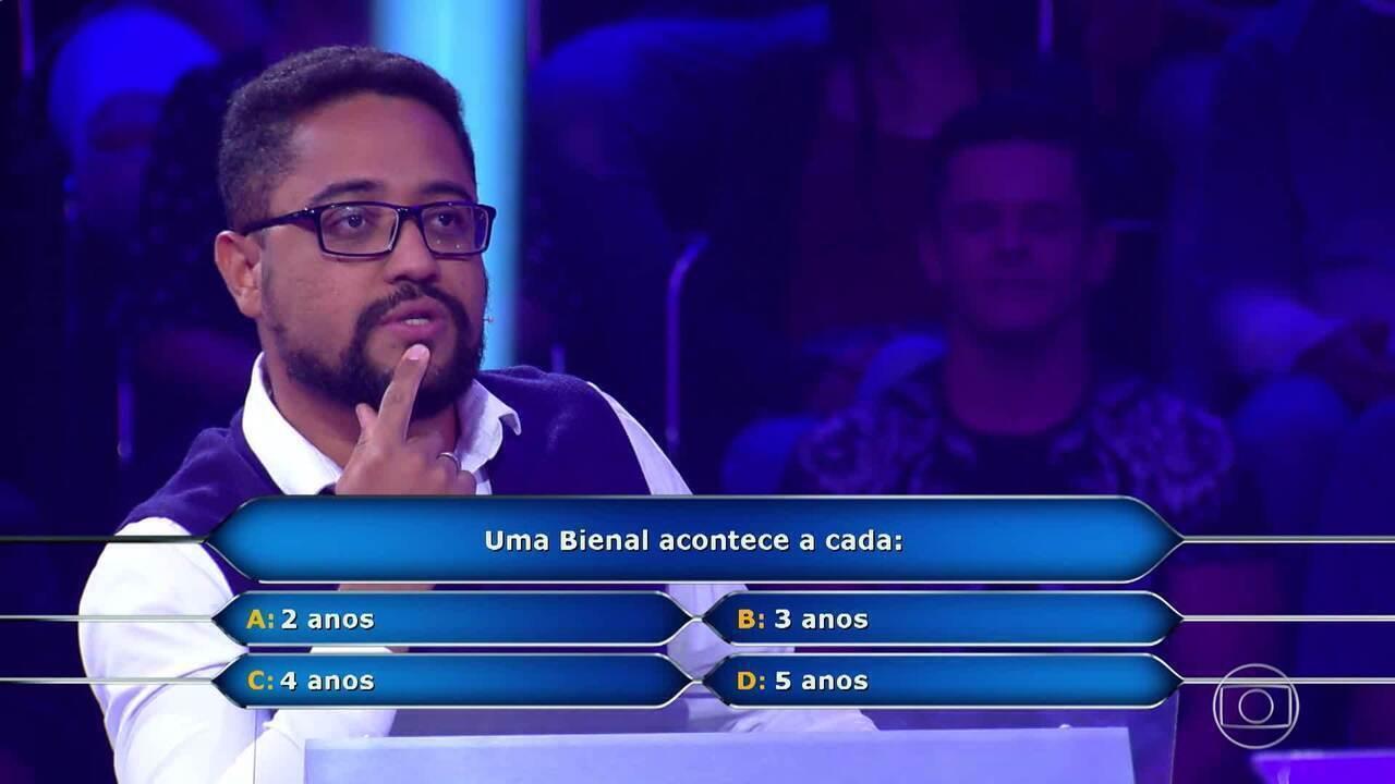 Carlos Alexandre participa do 'Quem Quer Ser Um Milionário'