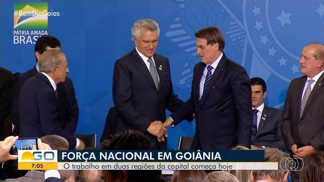 Força Nacional chega para atuar em Goiânia