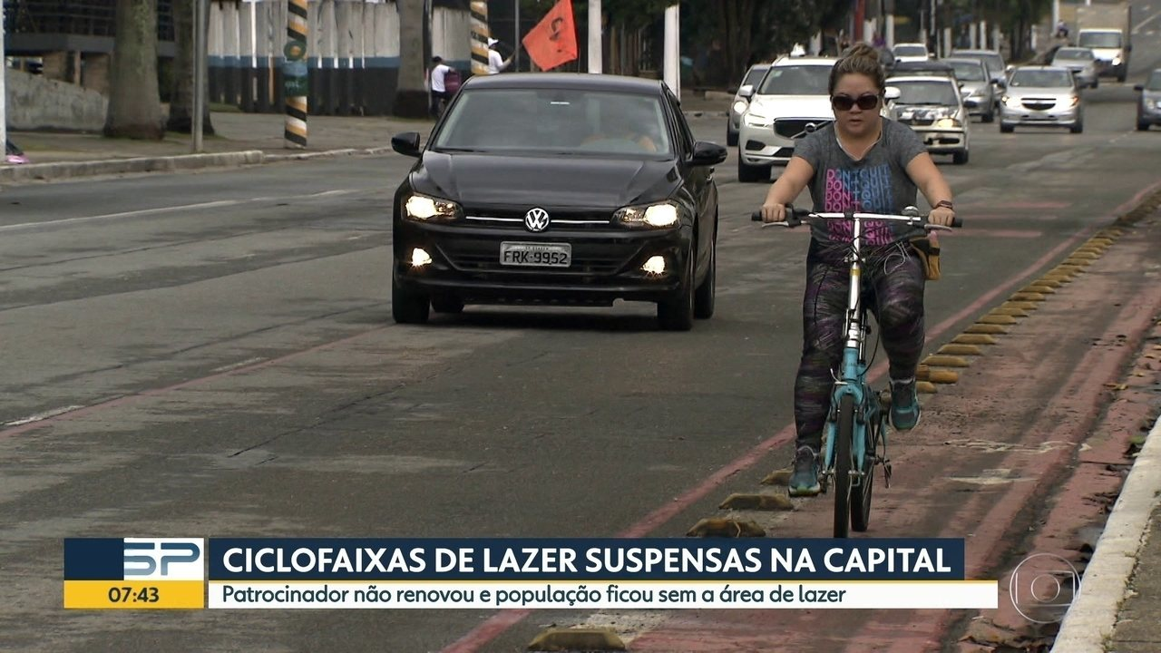 Ciclofaixas de lazer suspensas na Capital