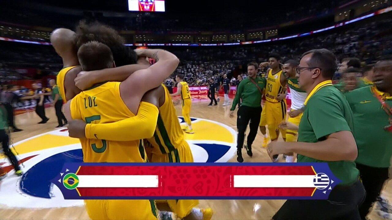 Melhores momentos: Brasil 79 x 78 Grécia pelo Mundial de Basquete