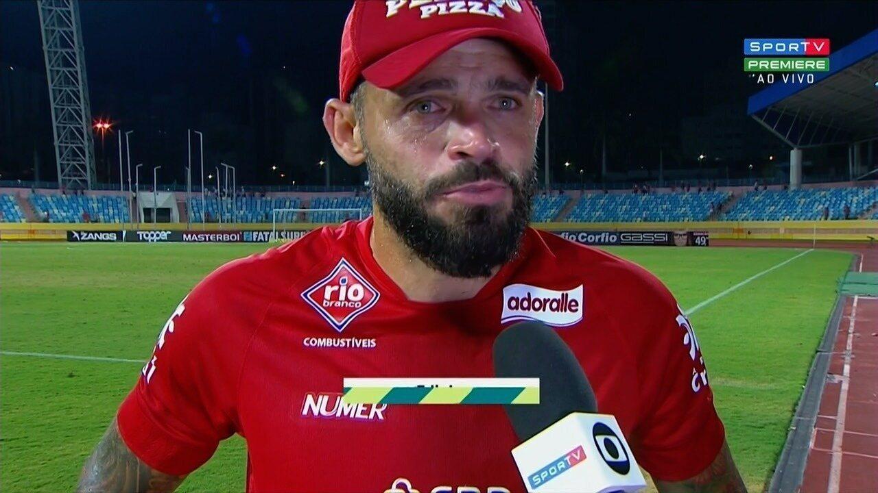 Edinho lamenta mais uma derrota do Vila Nova em casa