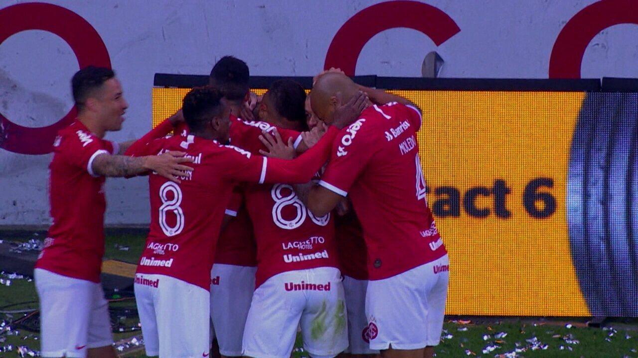 Os gols de Internacional 3 x 0 Cruzeiro pela semifinal da Copa do Brasil 2019