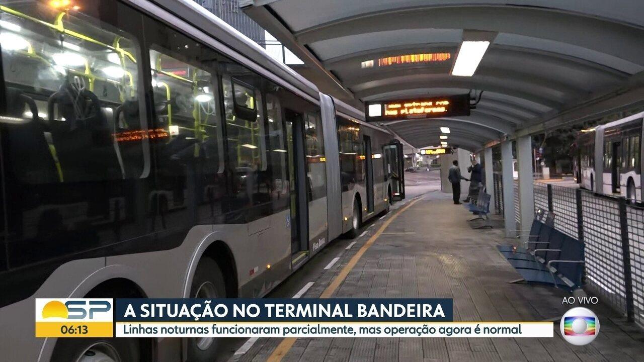 Confira a situação dos ônibus em cinco terminais de ônibus da capital