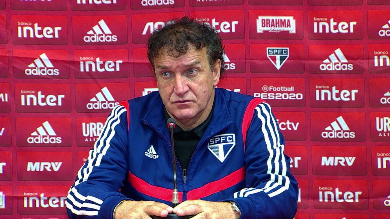 Cuca fala sobre a derrota do São Paulo para o Internacional no Beira-Rio