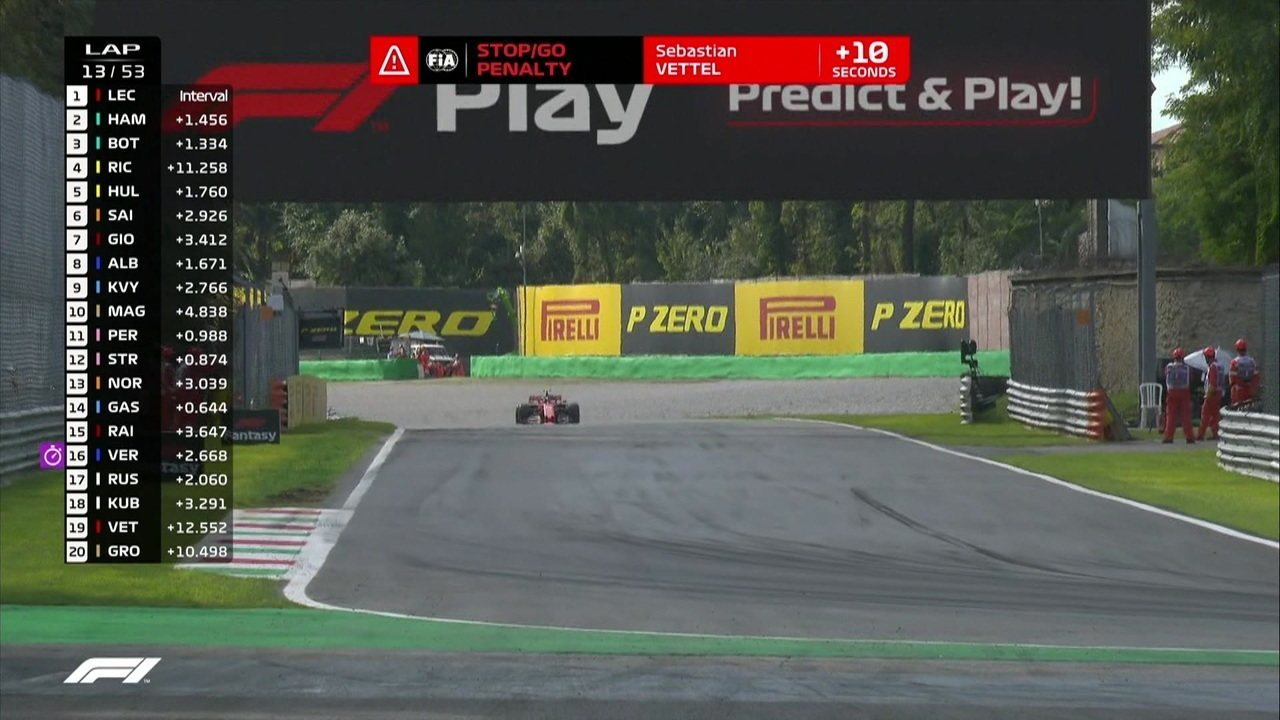 Sebastian Vettel recebe punição