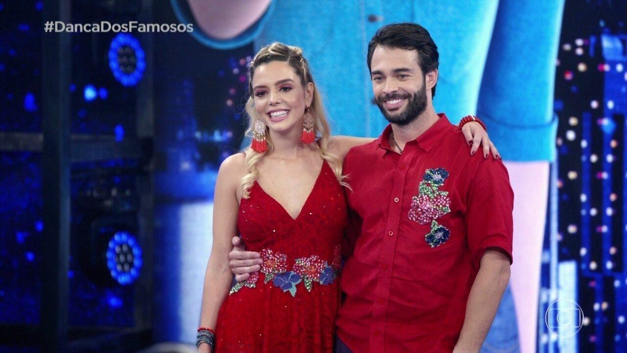 Giovanna Lancellotti e Danniel Navarro são avaliado pelo jurados
