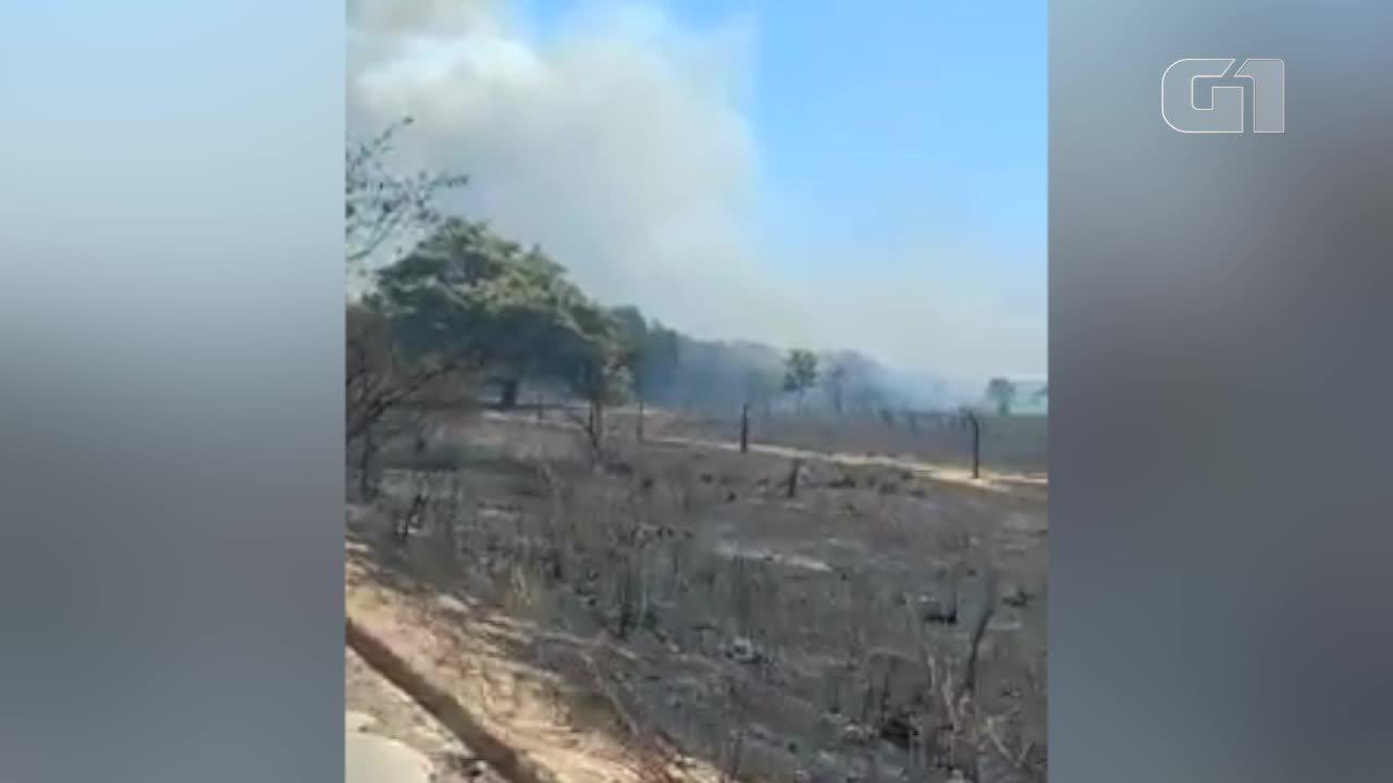 Vídeo mostra incêndio no Sul do Piauí
