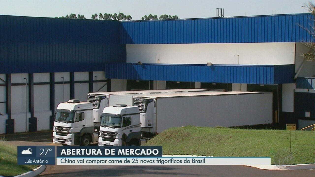 China abre mercado para 25 frigoríficos brasileiros