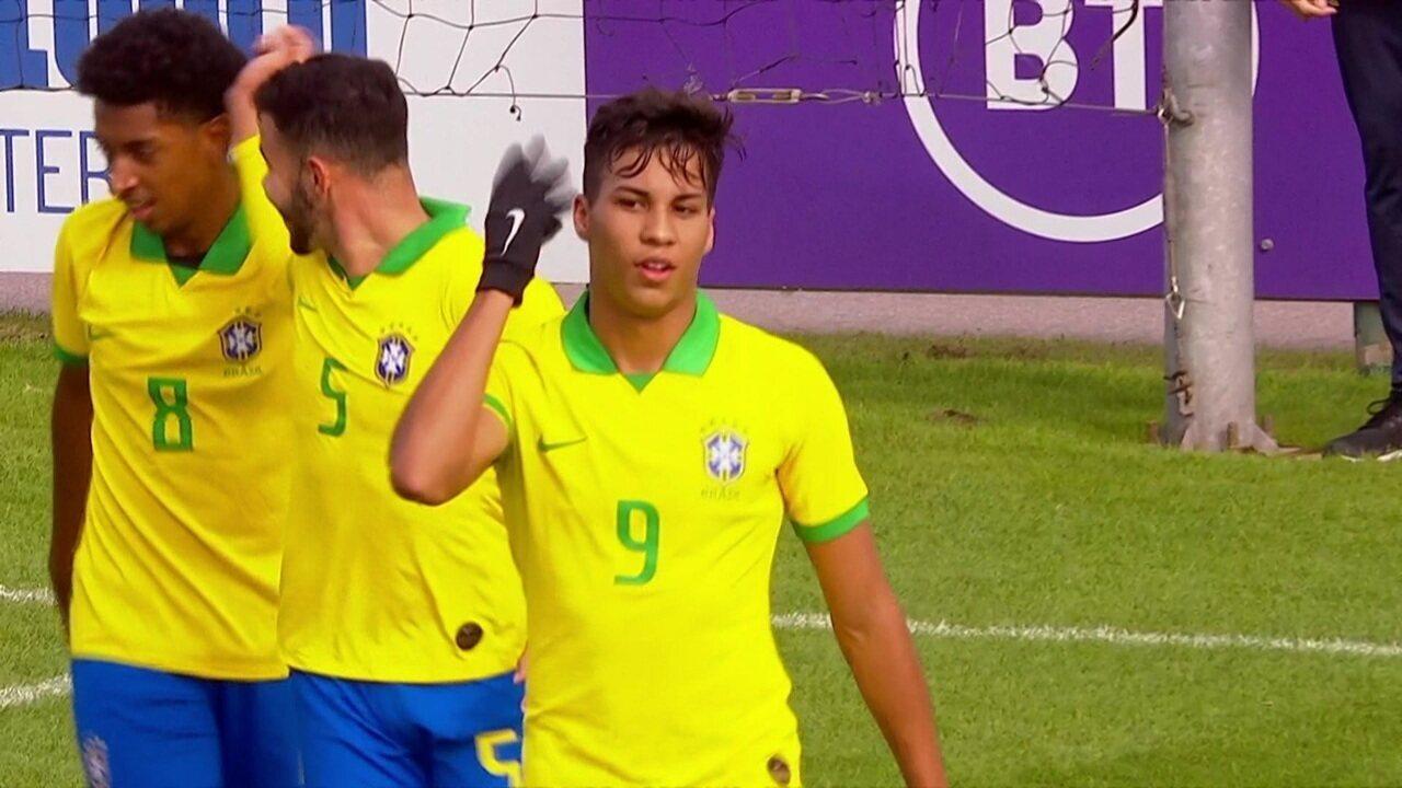 Gols de Brasil 4 x 0 Austrália em Amistoso da Seleção Sub-17