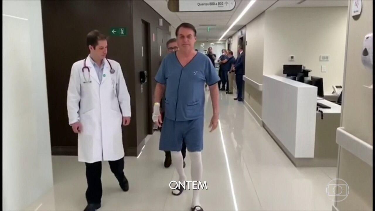 Bolsonaro segue internado em hospital de SP após passar por cirurgia