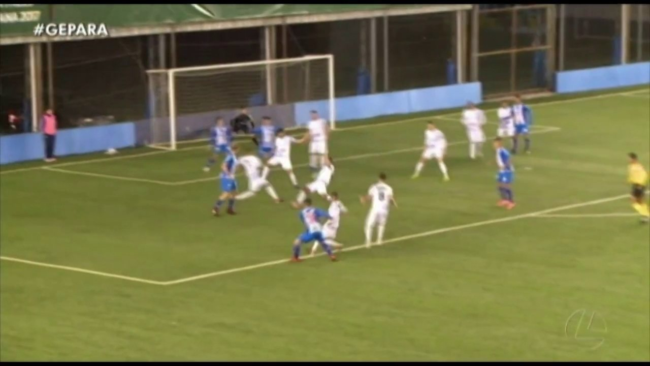 Pênalti marcado a favor do Paysandu contra o São José
