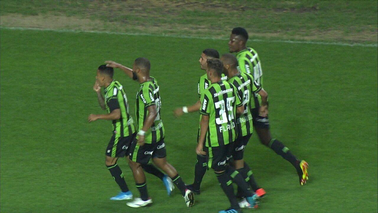 Gols de América-MG 2 x 1 Criciúma pela 22ª rodada do Campeonato Brasileiro Série B