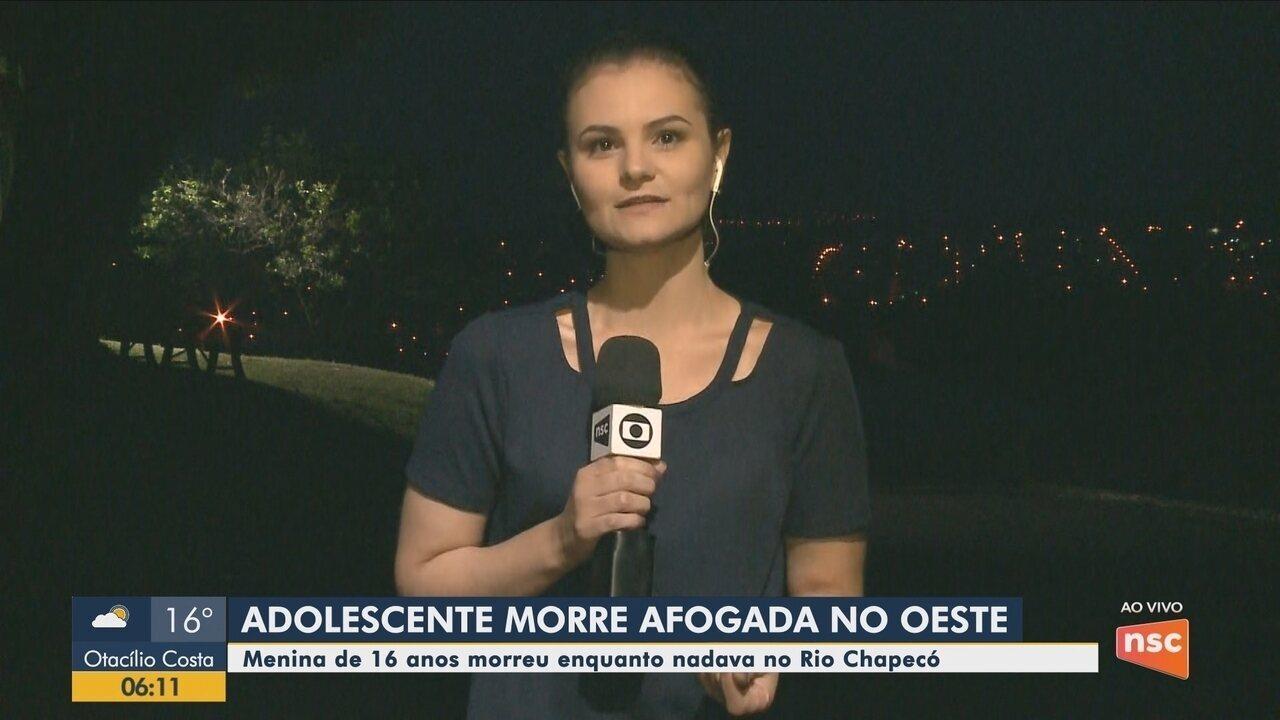 Adolescente de 16 anos morre afogada em rio de Coronel Freitas