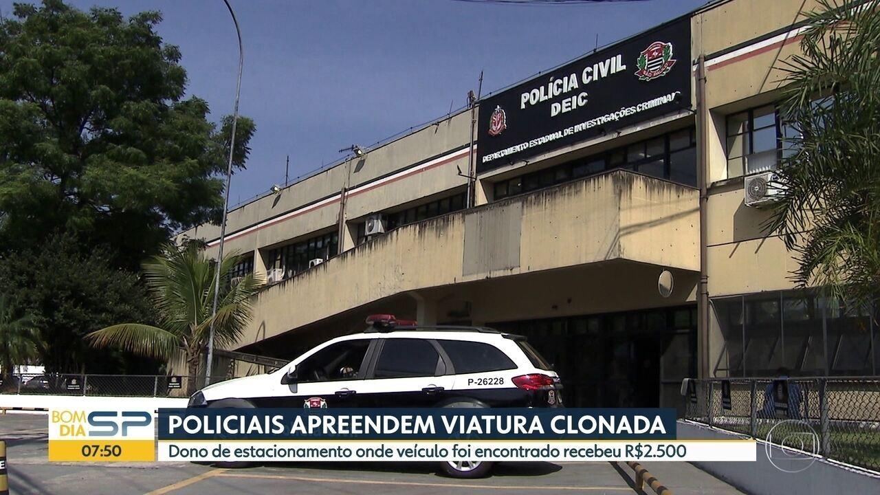 Polícia apreende viatura clonada da Polícia Civíl