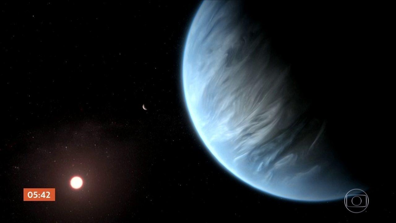 Cientistas encontram água em atmosfera de planeta potencialmente habitável
