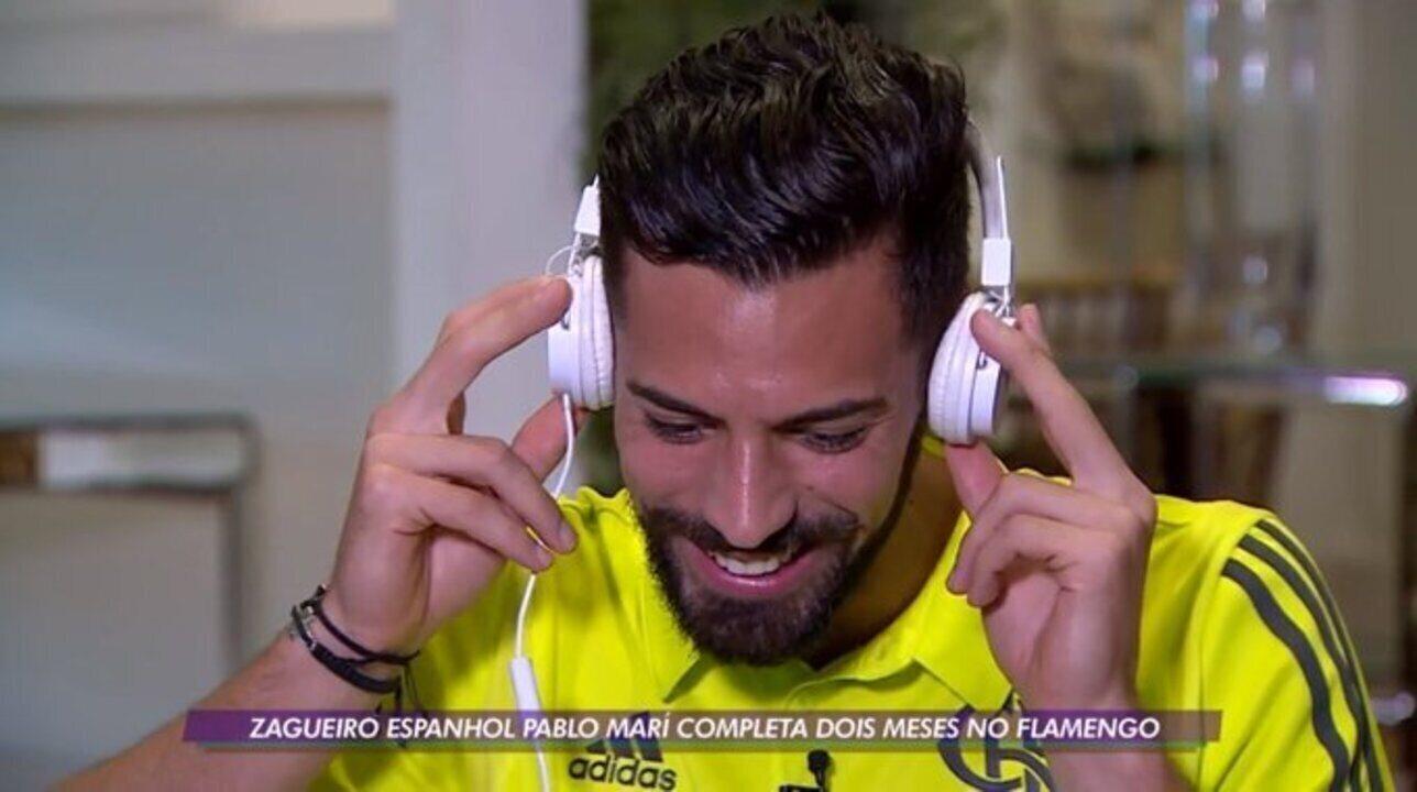Recém chegado, Pablo Marí se torna titular absoluto e até já canta músicas da torcida do Flamengo