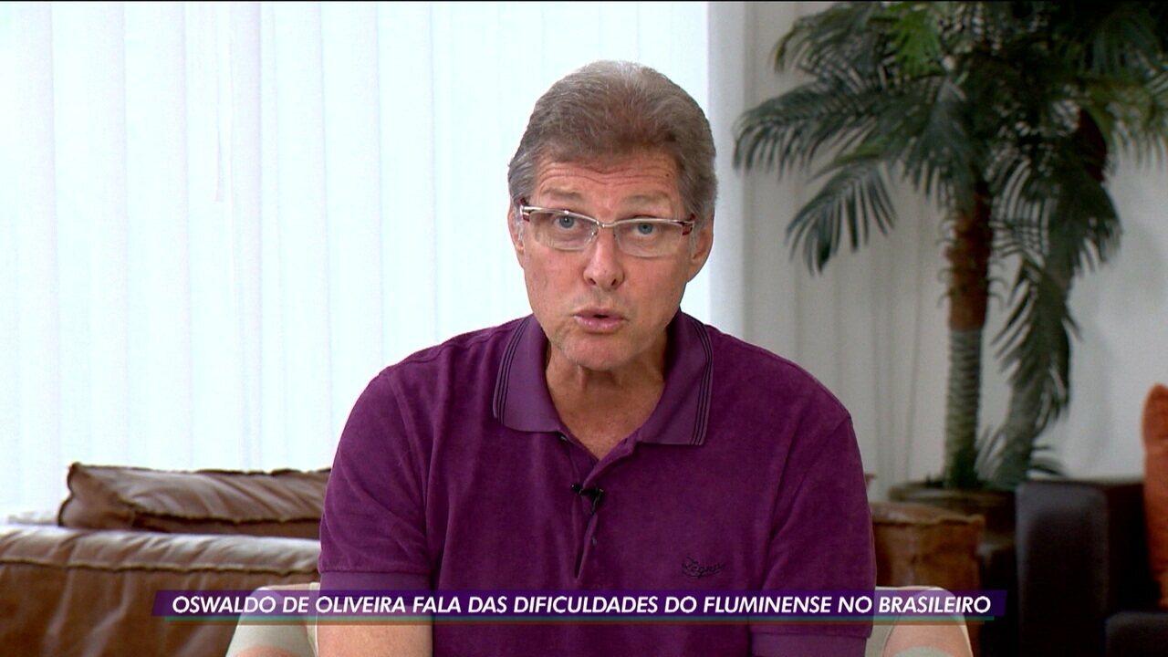 Oswaldo de Oliveira fala das dificuldades que tem enfrentado no comando do Fluminense